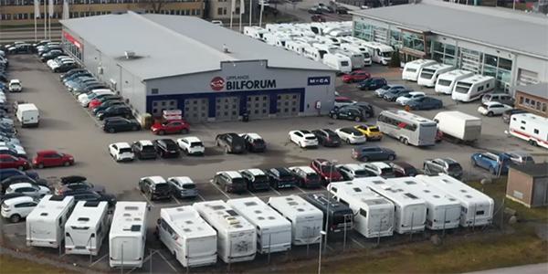 lokal för försäljning av husbilar och husvagnar i uppsala