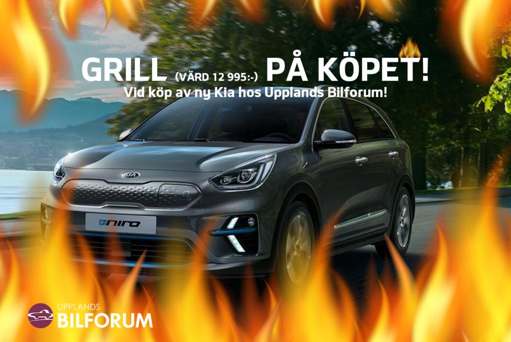 Köp ny Kia hos Upplands Bilforum och för en gasolgrill på köpet